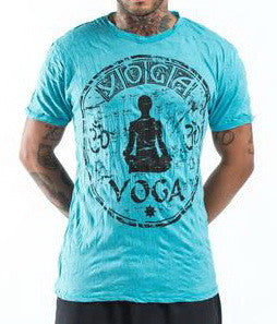 Sure Design Men's Infinitee Yoga Stamp T-Shirt Turquoise