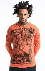 Sure Design Unisex Sanskrit Buddha Hoodie Orange