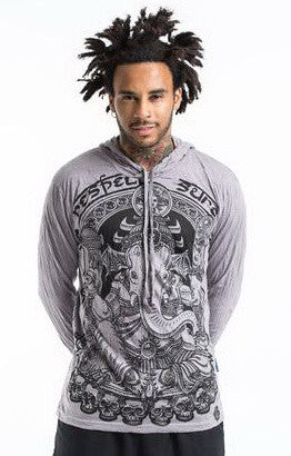 Sure Design Unisex Batman Ganesh Hoodie Gray