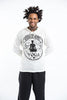 Sure Design Unisex Infinitee Yoga Stamp Hoodie White