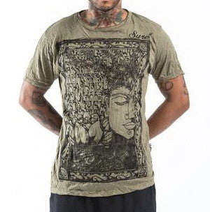 Sure Design Men's Sanskrit Buddha T-Shirt Green