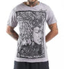 Sure Design Men's Sanskrit Buddha T-Shirt Gray