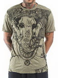 Wholesale Sure Design Men's Big Face Ganesh T-Shirt Green - $8.50
