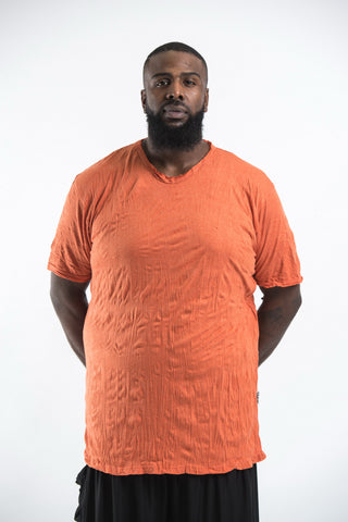 Plus Size Sure Design Men's Blank T-Shirt Orange