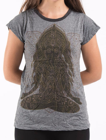 Sure Design Women's Ganesh Mantra T-shirt Black
