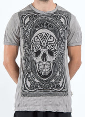 Sure Design Men's Trippy Skull T-Shirt Gray