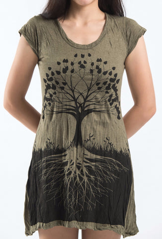 Sure Design Women's Tree of Life Dress Green