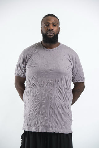 Plus Size Sure Design Men's Blank T-Shirt Gray