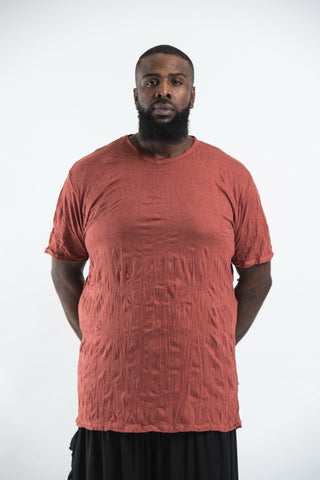 Plus Size Sure Design Men's Blank T-Shirt Brick