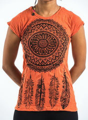 Sure Design Women's Dreamcatcher T-Shirt Orange