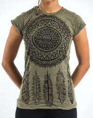 Sure Design Women's Dreamcatcher T-Shirt Green