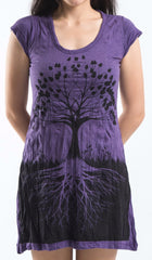 Sure Design Women's Tree of Life Dress Purple