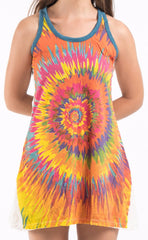 Sure Design Women's Rasta Spiral Tank Dress White