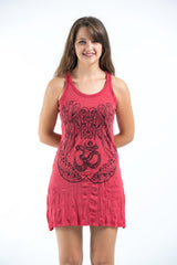 Sure Design Women's Ohm hands Tank Dress Red