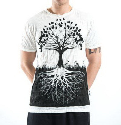 Sure Design Men's Tree Of Life T-Shirt White