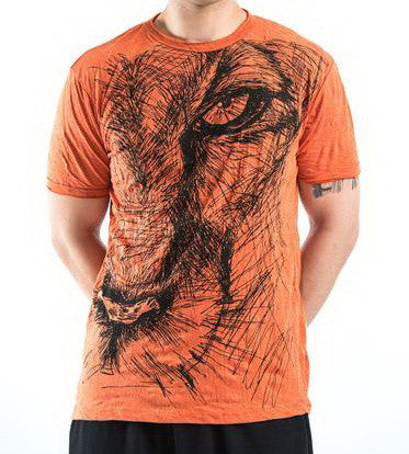 Sure Design Men's Lions Eye T-Shirt Orange