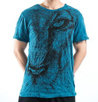 Sure Design Men's Lions Eye T-Shirt Denim Blue