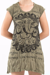 Sure Design Women's Avatar Ganesh Dress Green