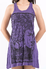 Sure Design Women's Sanskrit Buddha Tank Dress Purple
