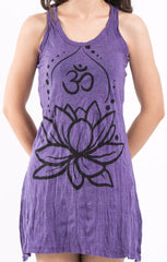 Sure Design Women's Lotus Ohm Tank Dress Purple