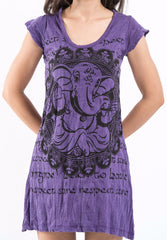 Sure Design Women's Avatar Ganesh Dress Purple