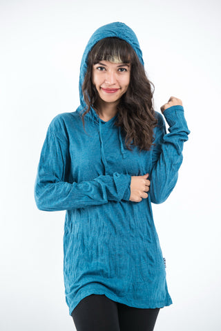 Sure Design Unisex Blank Hoodie Denim Blue