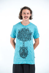 Sure Design Mens Celtic tree T-Shirt Turquoise
