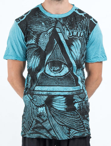 Sure Design Men's Eye Universe T-Shirt Turquoise