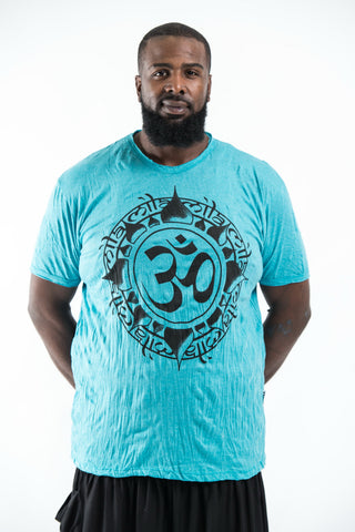 Plus Size Sure Design Men's Infinitee Ohm T-Shirt Turquoise
