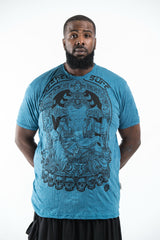 0932d69ad79 Plus Size Sure Design Men s Batman Ganesh T-Shirt Denim Blue