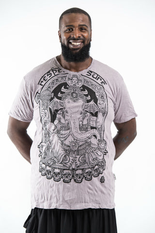 Plus Size Sure Design Men's Batman Ganesh T-Shirt Gray