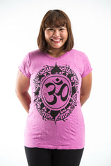 Plus Size Sure Design Women's Infinitee Ohm T-Shirt Pink