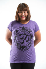 Plus Size Sure Design Women's Infinitee Ohm T-Shirt Purple