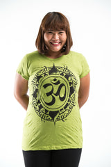 Plus Size Sure Design Women's Infinitee Ohm T-Shirt Lime