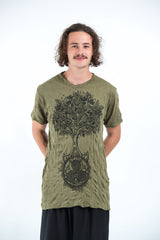 Sure Design Mens Celtic tree T-Shirt Green