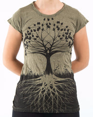 Sure Design Women's Tree of Life T-Shirt Green