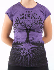 Sure Design Women's Tree Of Life T-Shirt Purple