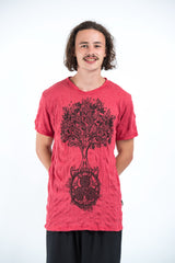 Sure Design Mens Celtic tree T-Shirt Red