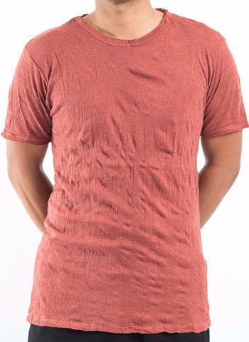 Sure Design Men's Blank T-Shirt Brick