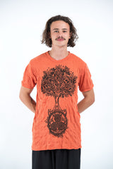 Sure Design Mens Celtic tree T-Shirt Orange