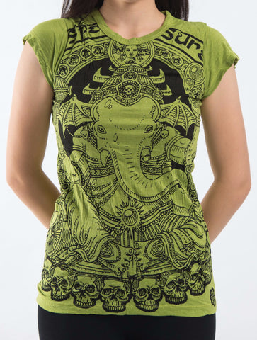 Sure Design Women's Batman Ganesh T-Shirt Lime