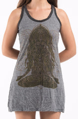 Sure Design Women's Ganesh Mantra Tank Dress Black