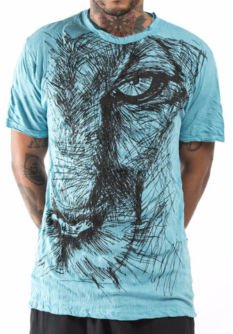 Sure Design Men's Lions Eye T-Shirt Turquoise