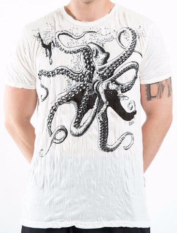 Sure Design Men's Octopus T-Shirt White