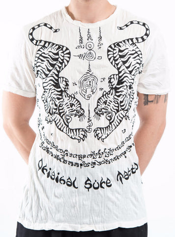 Sure Design Men's Thai Tattoo T-Shirt White