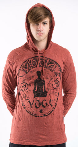 Sure Design Unisex Infinitee Yoga Stamp Hoodie Brick