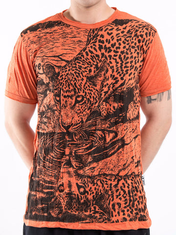 Sure Design Men's Leopard T-Shirt Orange