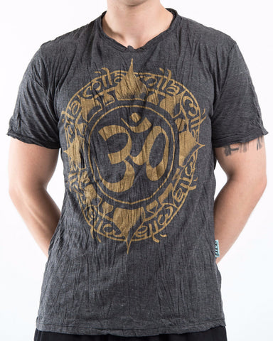 Sure Design Men's Infinitee Ohm T-Shirt Gold on Black