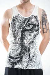 Sure Design Men's Lions Eye Tank Top White