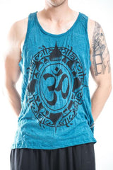 Sure Design Men's Infinitee Ohm Tank Top Denim Blue